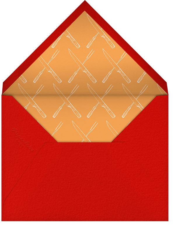Golden Brown - Paperless Post - Thanksgiving - envelope back