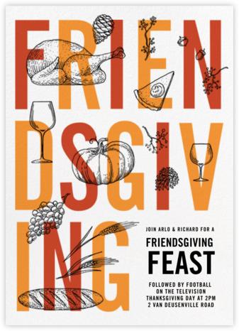 Good Friends Good Food - Paperless Post