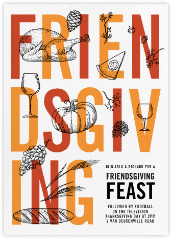 Good Friends Good Food - Paperless Post - Thanksgiving invitations