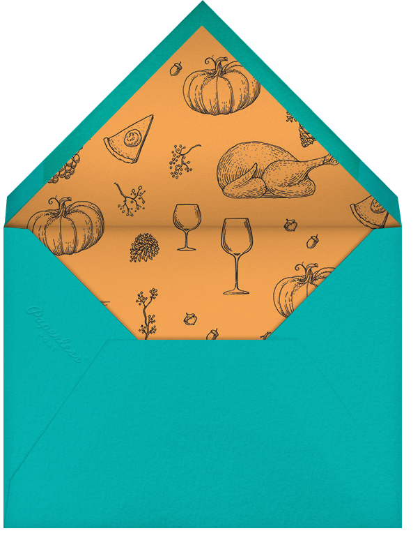 Good Friends Good Food - Paperless Post - Sorority events - envelope back