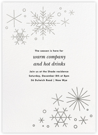 No Two Alike - Silver - Paperless Post - Winter Party Invitations
