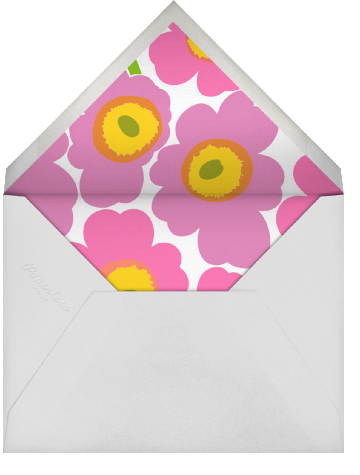 Unikko (Horizontal) - Pink/Lilac - Marimekko - Baby shower - envelope back