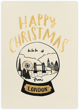 London Snow Globe - Gold - Hello!Lucky -