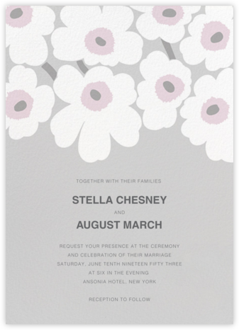 Unikko (Invitation) - Gray - Marimekko - Wedding Invitations