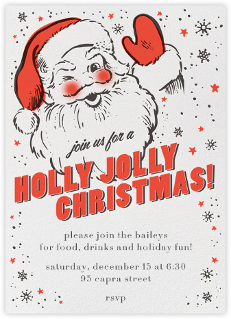 Holly Jolly Invitation - Hello!Lucky - Christmas invitations