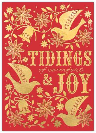 Bells and Boughs - Red - Hello!Lucky - Holiday Cards