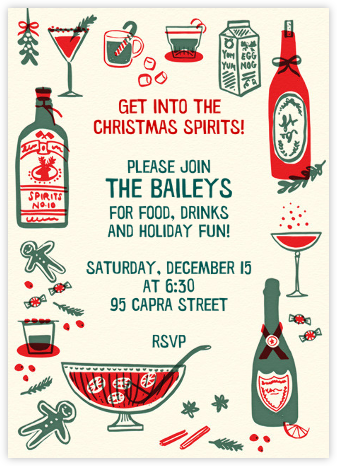 That's the Spirit - Hello!Lucky - Holiday party invitations