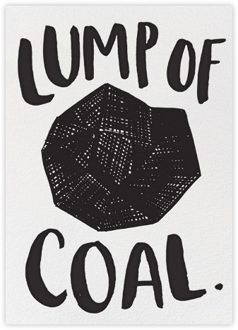 Lump of Coal - Hello!Lucky - New Year Cards