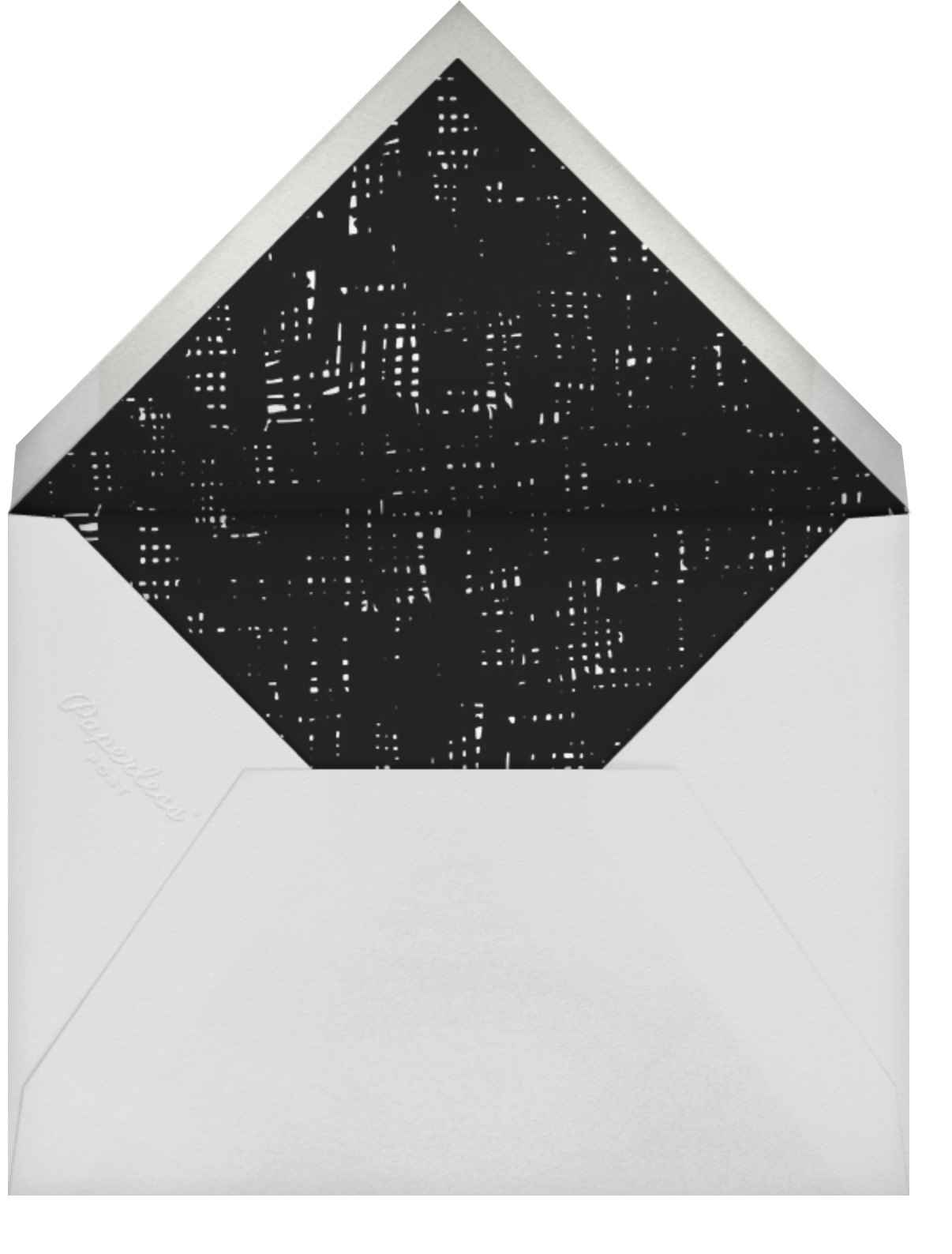Lump of Coal - Hello!Lucky - Holiday cards - envelope back