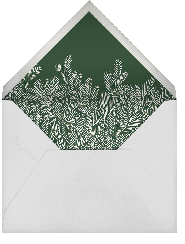 Red Fir - Hunter - Paperless Post - Holiday cards - envelope back
