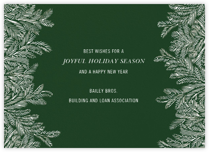 Red Fir - Hunter - Paperless Post - Company holiday cards