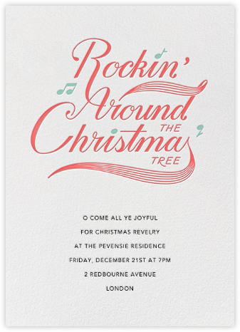 Christmas Party Hop - White - Paperless Post -