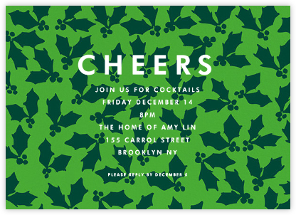 Holly Cheers - Green - Linda and Harriett -