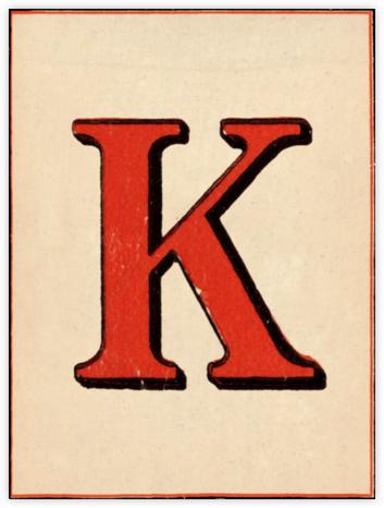 Red Letter - K - John Derian - John Derian stationery