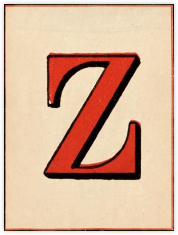 Red Letter - Z - John Derian -