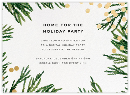Confetti Branches - Gold - kate spade new york - Printable Invitations