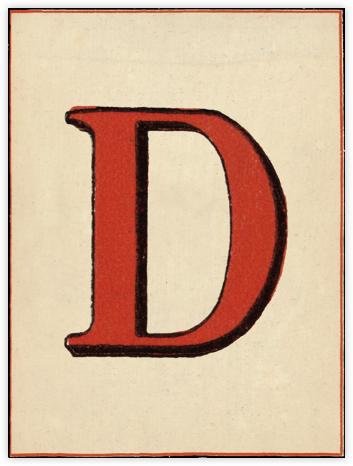 Red Letter - D - John Derian - Dinner Party Invitations