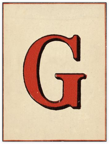 Red Letter - G - John Derian -