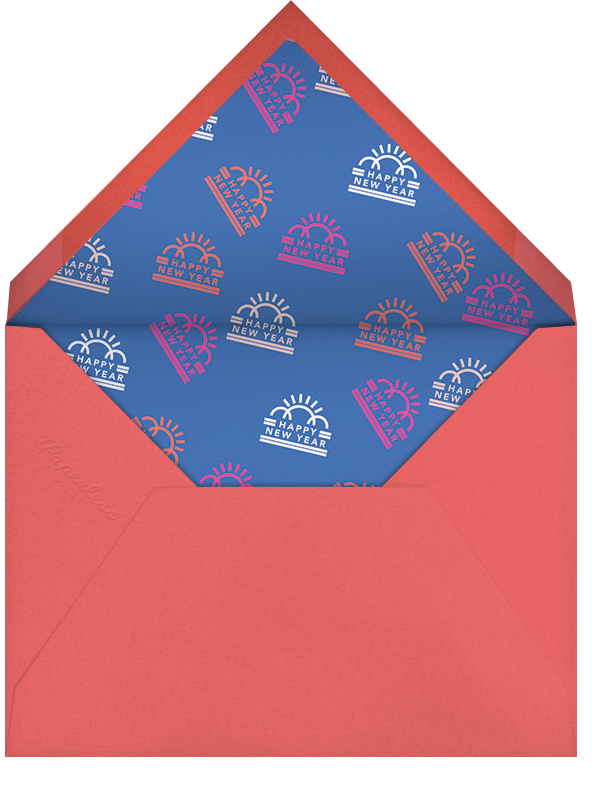 Eve Wear - Paperless Post - New Year's Eve - envelope back