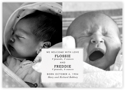 Two of a Kind - Paperless Post - Birth Announcements
