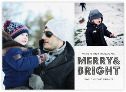 Bright Marquee (Multi-Photo) - Gray - Jonathan Adler - Holiday Cards