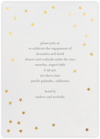Scattered Stars - Sugar Paper - Engagement party invitations