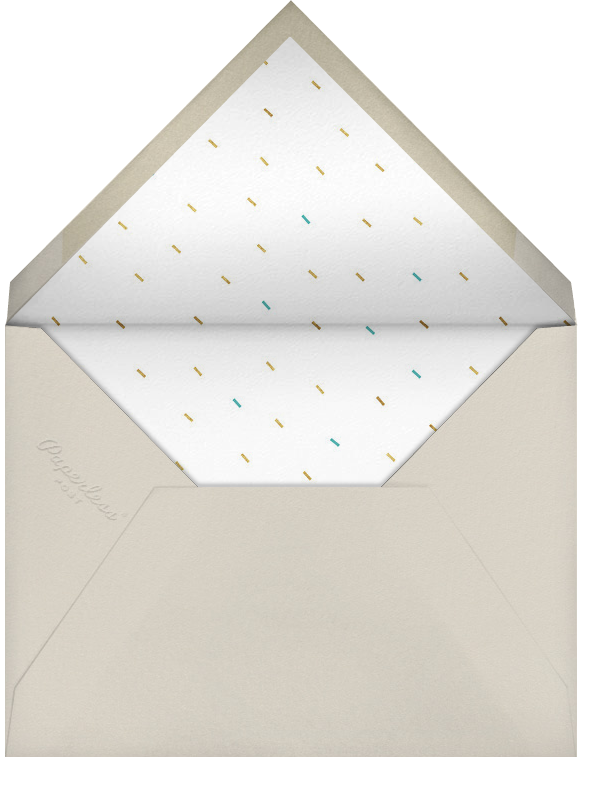 Party Animals - Gold Robin  - Paperless Post - Adult birthday - envelope back