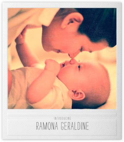 Snapshot - Double Sided - Paperless Post - Birth Announcements