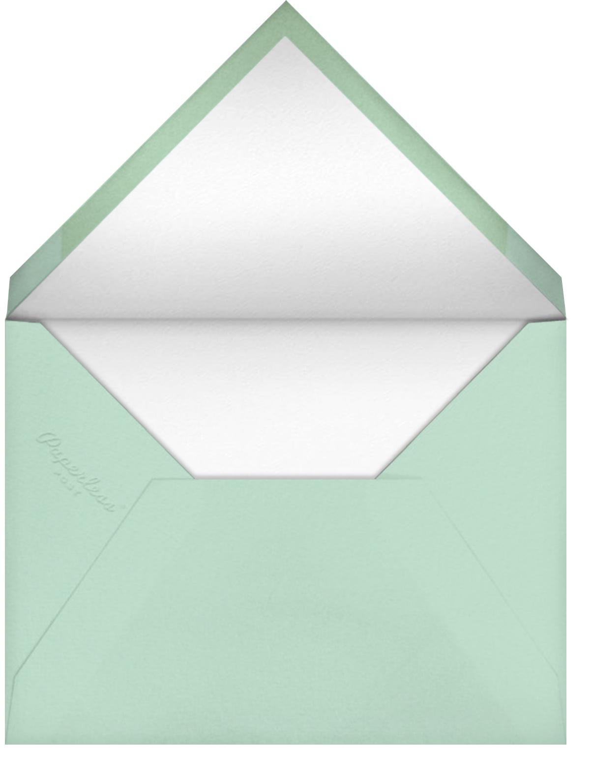 Scalloped Stripes - Mint  - Ashley G - Envelope