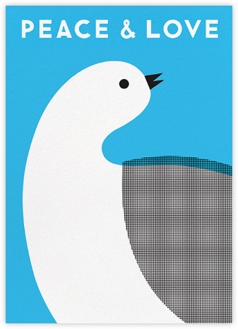 Peace and Love Dove  - The Indigo Bunting - New Year cards