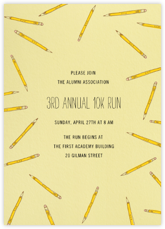 Scattered Pencils - Paperless Post - Fundraiser Invitations