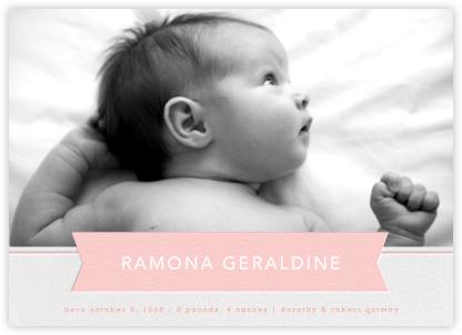Ribbon Banner - Pavlova  - Paperless Post - Birth Announcements