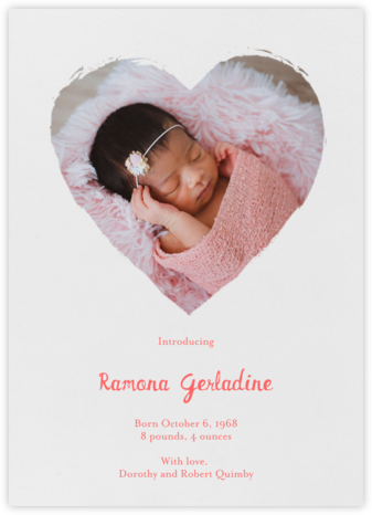 Painted Heart (Photo) - Paperless Post - Birth Announcements