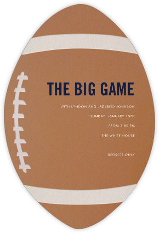 Pigskin - Paperless Post - Sporting Event Invitations