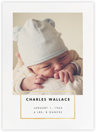 Placard - Gold - Paperless Post - Birth Announcements