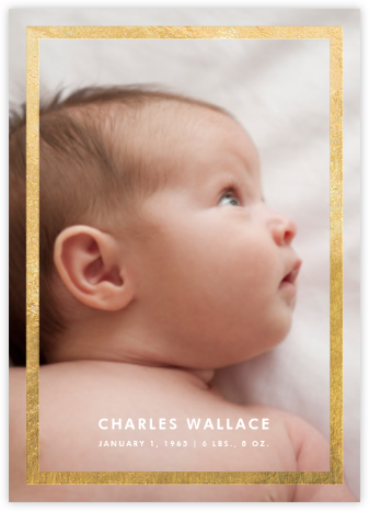 Perfect Portrait - Gold - Paperless Post - Birth announcements