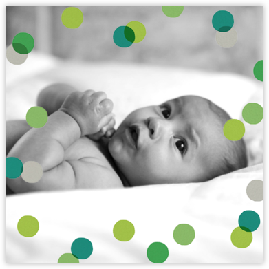 Carnaby (Photo) - Green - Paperless Post - Birth Announcements