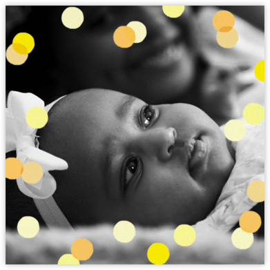 Carnaby (Photo) - Yellow - Paperless Post - Birth Announcements