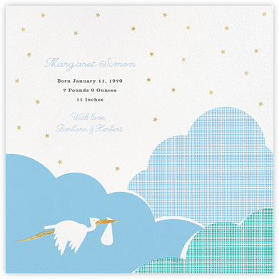 Fly by Night - Blue - Hello!Lucky - Birth Announcements