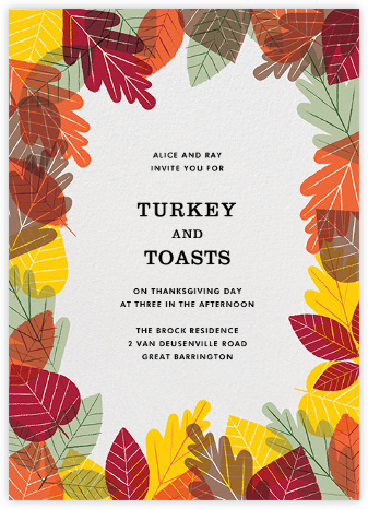 Leaf Pile - Paperless Post - Autumn entertaining invitations