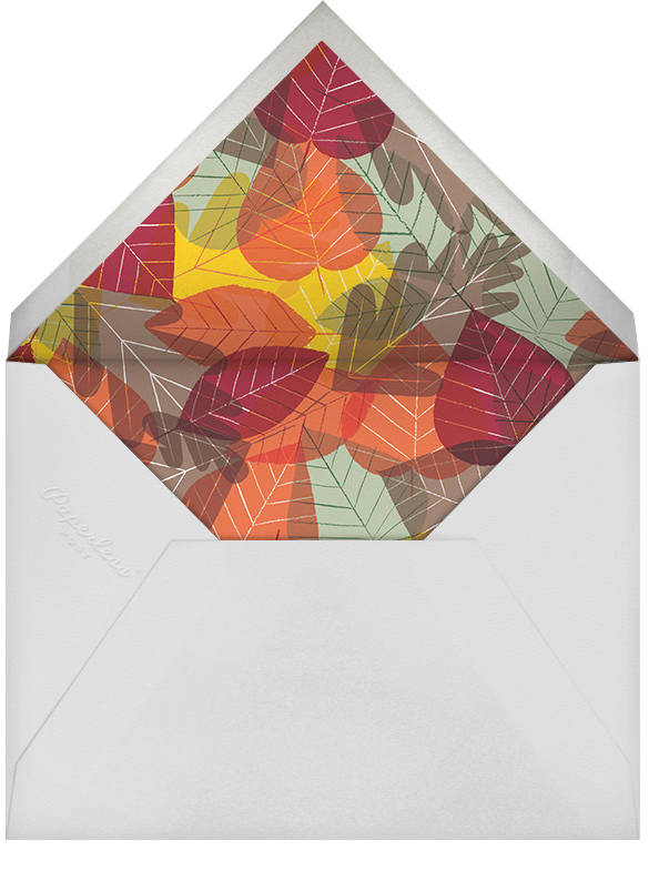 Leaf Pile - Paperless Post - Autumn entertaining - envelope back