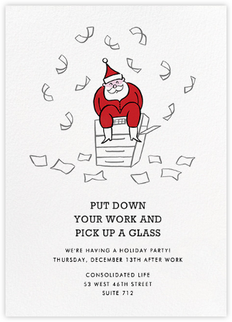 Rosy Cheeks - Paperless Post - Holiday party invitations