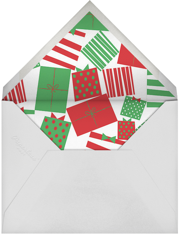 Rosy Cheeks - Paperless Post - Company holiday party - envelope back