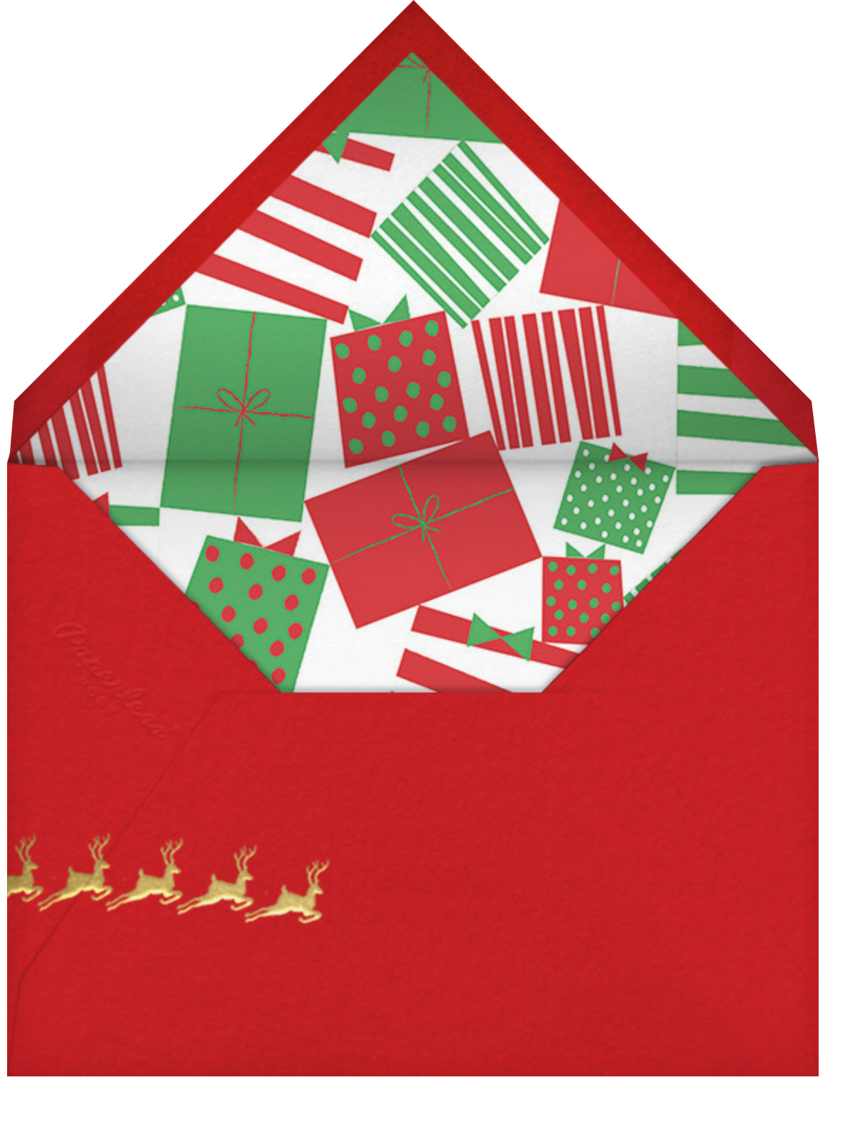 Rosy Cheeks - Paperless Post - Christmas party - envelope back