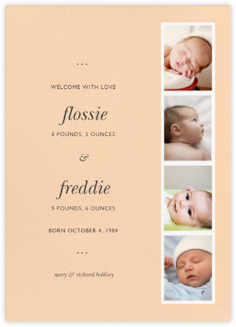 Photo Booth - Bellini - Paperless Post - Birth Announcements
