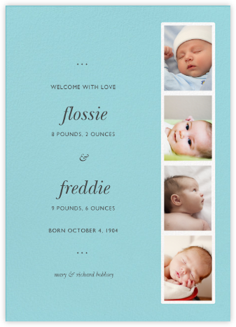 Photo Booth - Caribbean - Paperless Post - Birth Announcements