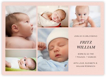 Cornerstone - Meringue - Paperless Post - Birth Announcements