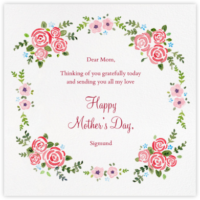 Rose Garland - Paperless Post - Mother's day cards