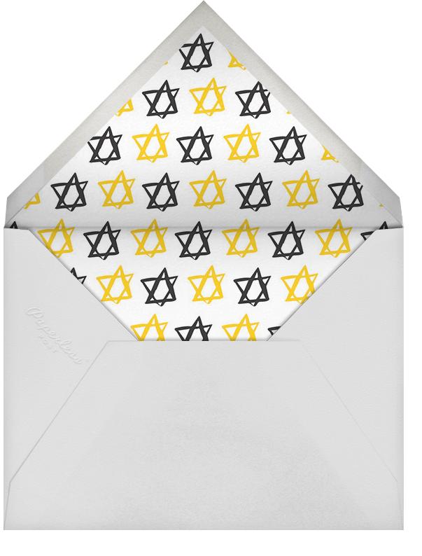 O Spinnenbaum - Paperless Post - Hanukkah - envelope back
