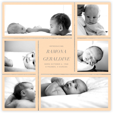 Whitework - Bellini - Paperless Post - Birth Announcements